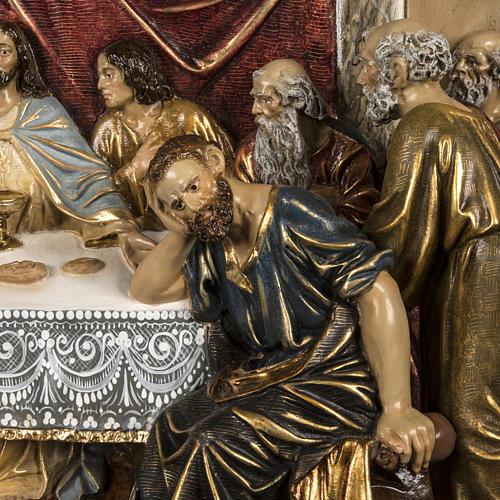 Ultima Cena bassorilievo pasta di legno 110x122 cm extra 3