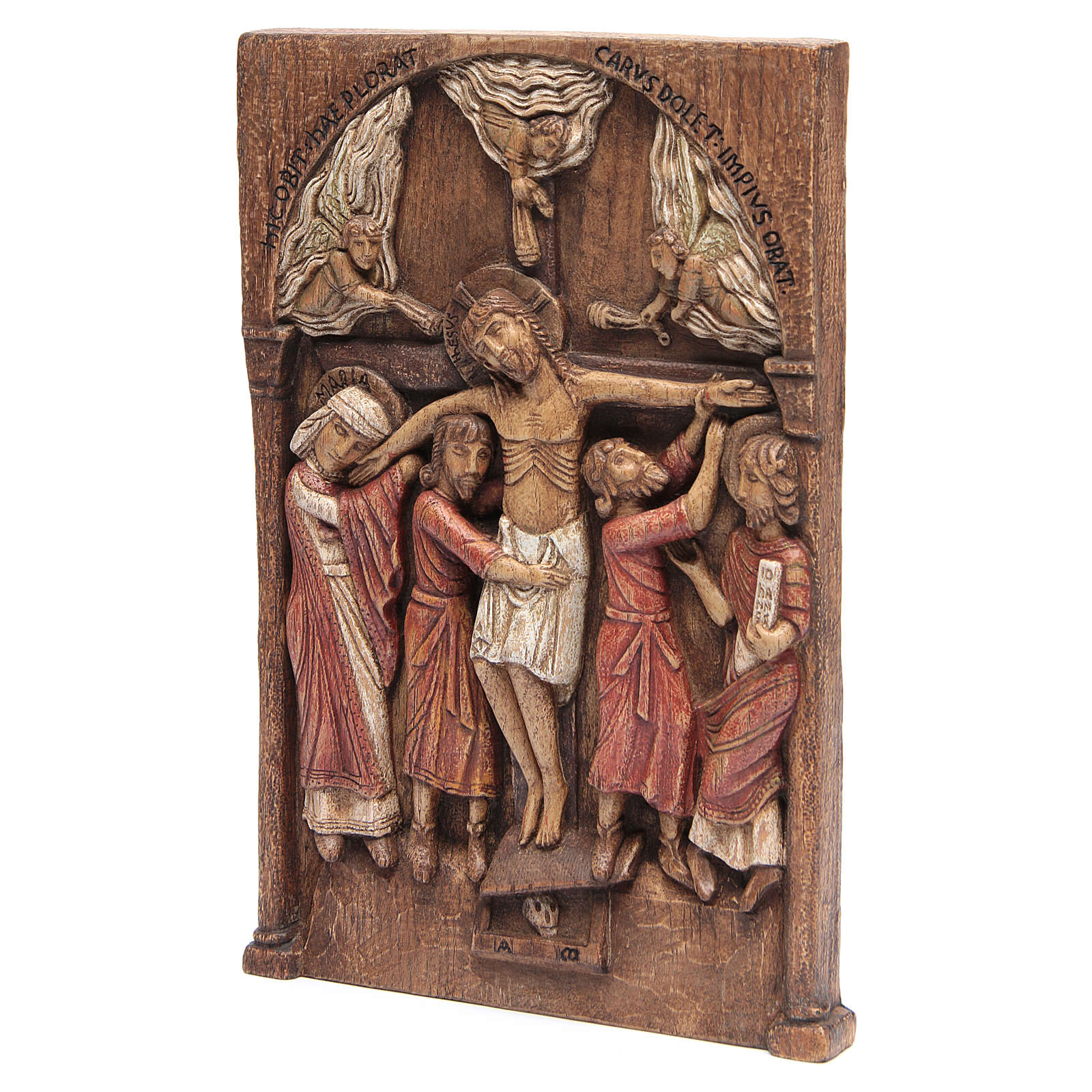 Bajorrelieve Crucifixiñon de los Silos 37,5x24,5cm Bethlém 4