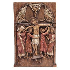 Bas reliefs variés: Bas relief de Crucifixion de Silos 37x24 cm bois Bethléem