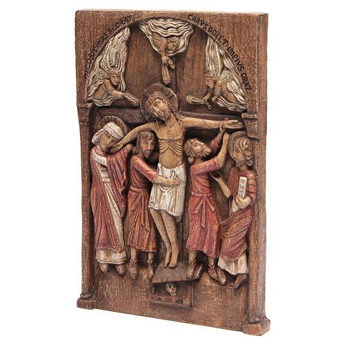 Bassorilievo Crocifissione di Silos 37,5x24,5 cm legno Bethléem 3