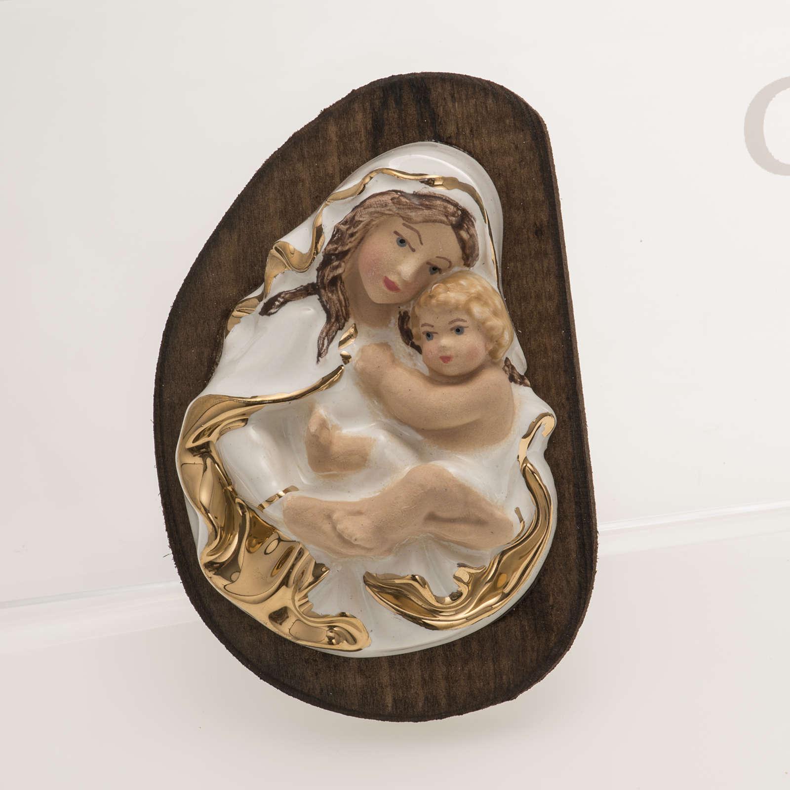 bajorrelieve cerámica Virgen con el Niño 4