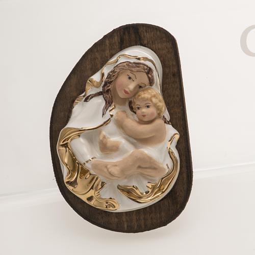 Bassorilievo ceramica Madonna con Bimbo 1