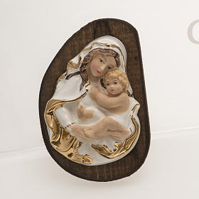 Bas-relief in ceramic, Our Lady with baby s1