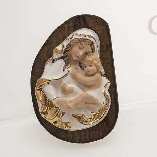 Bas-relief in ceramic, Our Lady with baby 1