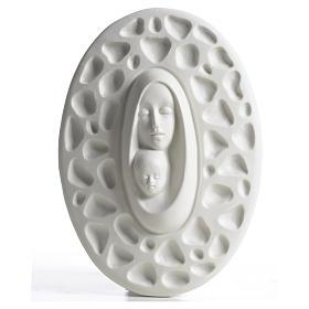 Virgen con Niño bajorrelieve Francesco Pinton 20 cm s1