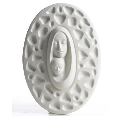 Bassorilievo Madonna bambino Francesco Pinton 20 cm 1