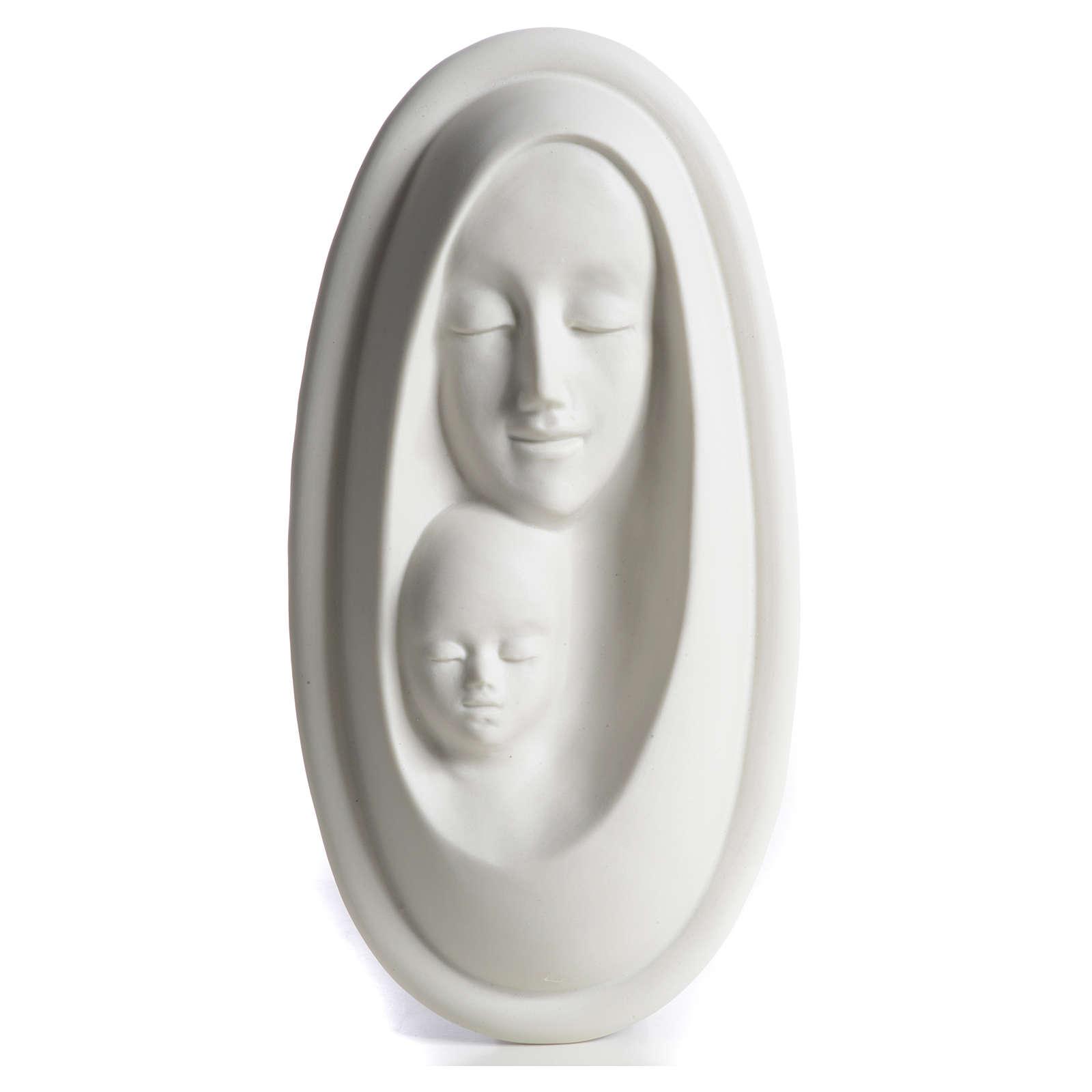 Bajorrelieve porcelana Virgen con Niño F. Pinton 4