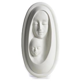 Bajorrelieve porcelana Virgen con Niño F. Pinton s1