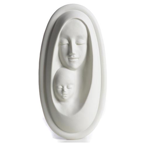 Bajorrelieve porcelana Virgen con Niño F. Pinton 1