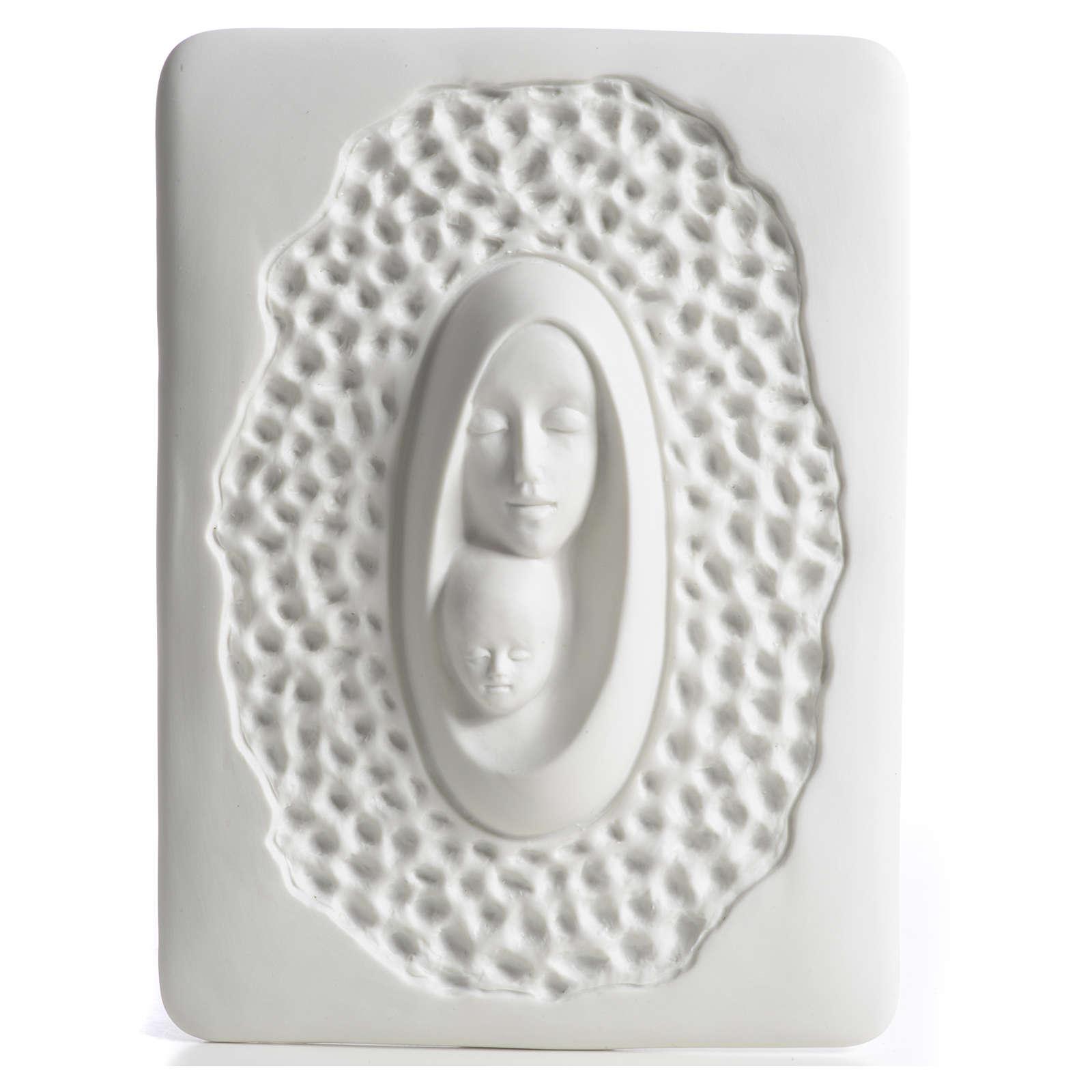 Bassorilievo Francesco Pinton stilizzato Madonna bambino 4