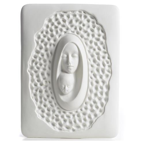 Bassorilievo Francesco Pinton stilizzato Madonna bambino 1