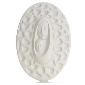Bas-relief ovale Vierge à l'Enfant Pinton 30 cm
