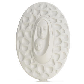Bas-relief in porcelain, Pinton's Madonna with baby 30 cm s1