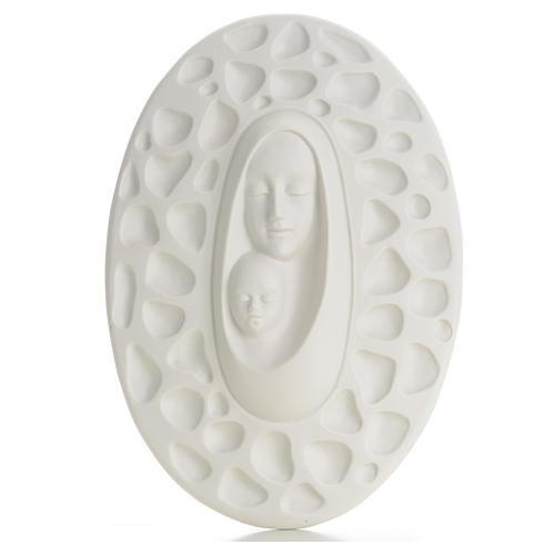 Bas-relief in porcelain, Pinton's Madonna with baby 30 cm 1