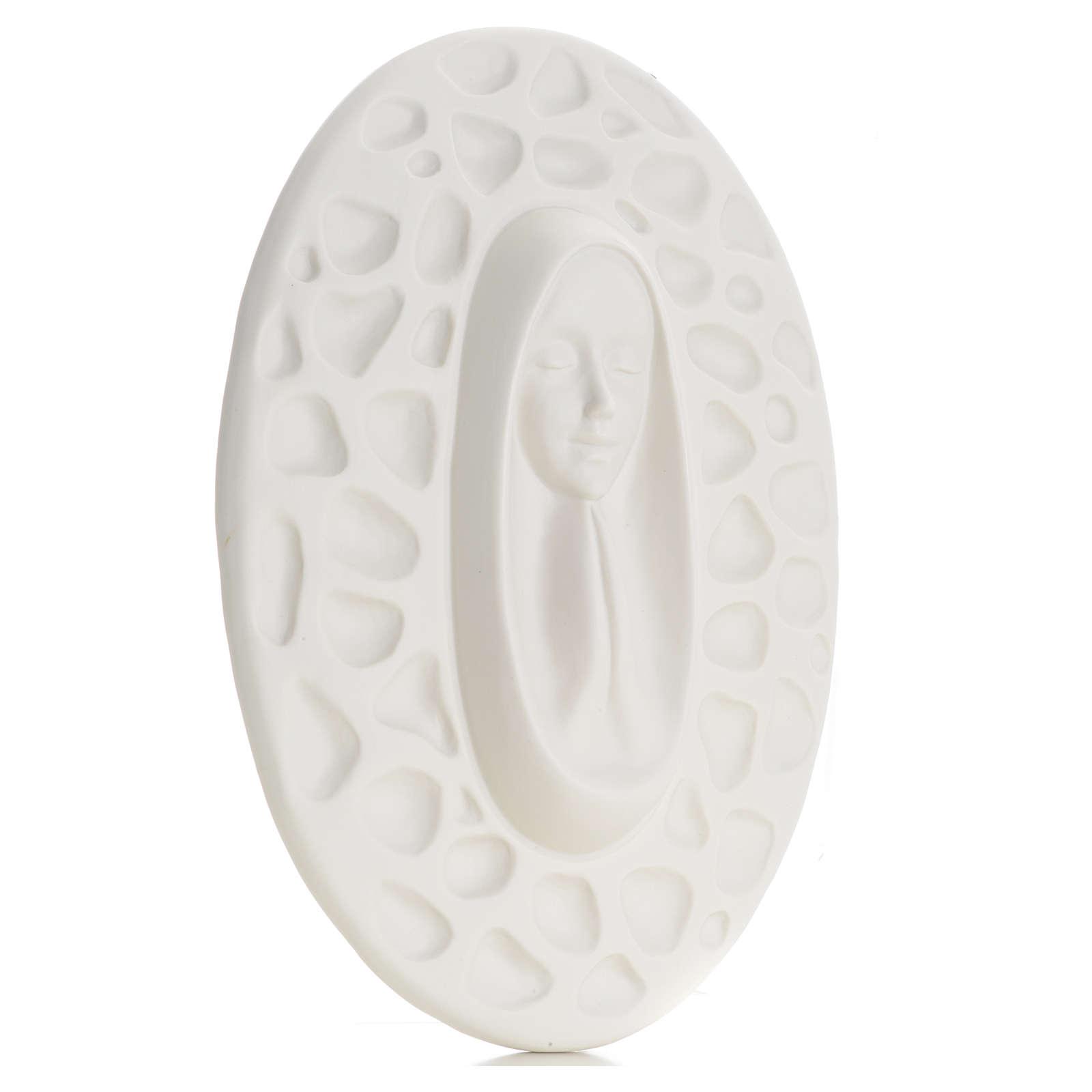 Bajorrelieve porcelana Pinton Virgen rezando 30 cm 4