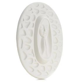 Bajorrelieve porcelana Pinton Virgen rezando 30 cm s3