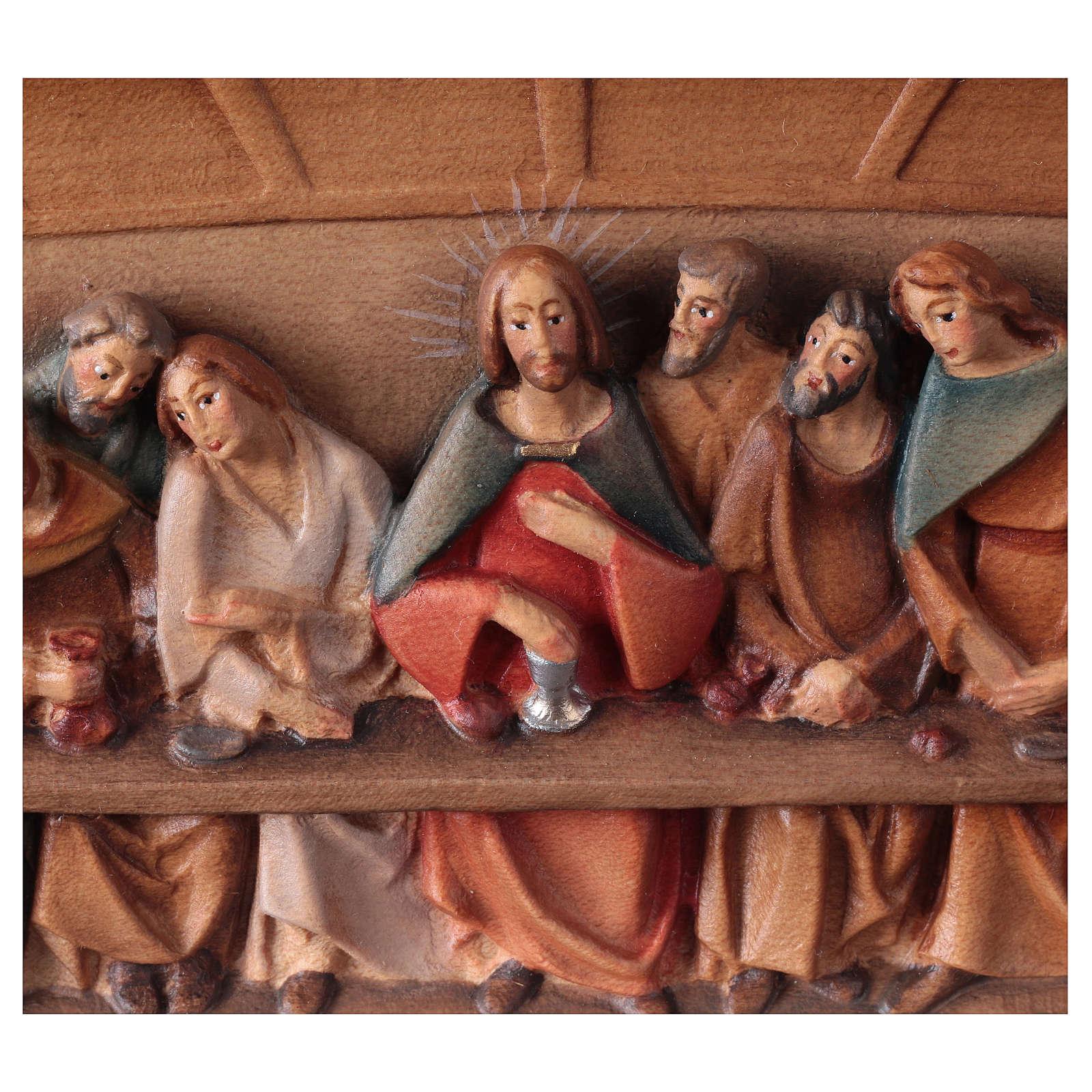Relieve Última Cena madera pintado Valgardena 4