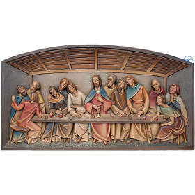 Relieve Última Cena madera pintado Valgardena s1