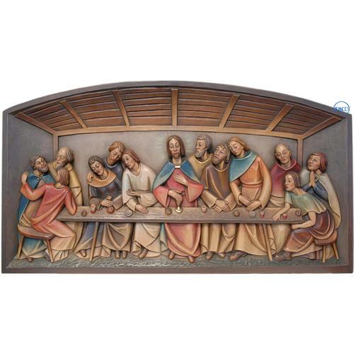 Relieve Última Cena madera pintado Valgardena 1