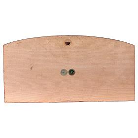 Baixo-relevo Última Ceia madeira corada Val Gardena s4