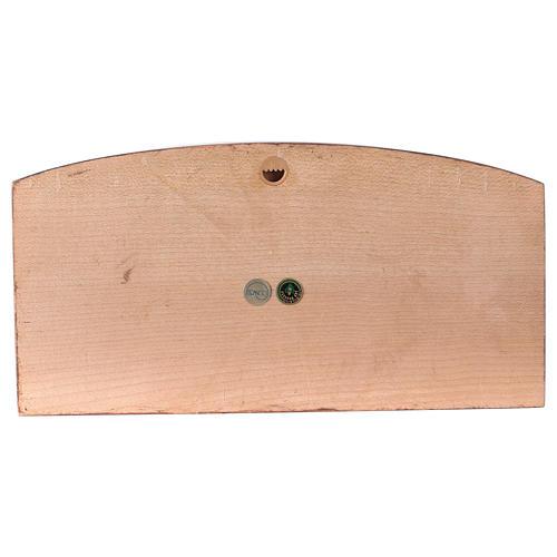 Baixo-relevo Última Ceia madeira corada Val Gardena 4