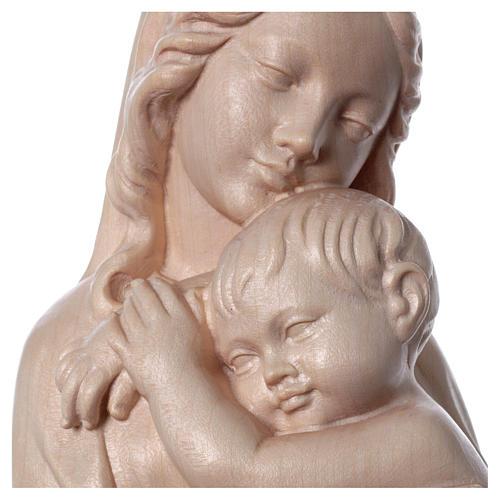 Rilievo Madonna con bimbo legno Valgardena naturale cerato 2