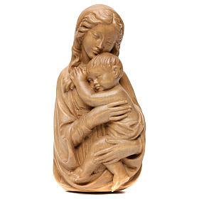 Rilievo Madonna con bimbo legno Valgardena patinato s1
