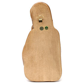 Rilievo Madonna con bimbo legno Valgardena patinato s5