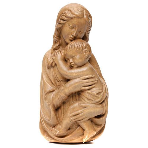 Rilievo Madonna con bimbo legno Valgardena patinato 1