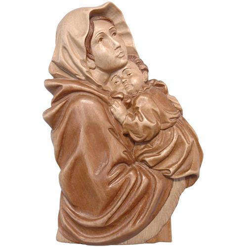 Rilievo Madonna del Ferruzzi legno Valgardena multipatinato 1