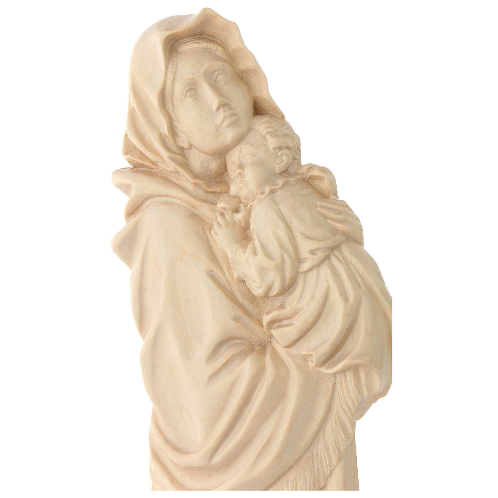 Rilievo Madonna del Ferruzzi legno Valgardena naturale cerato 4