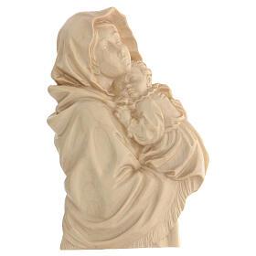 Rilievo Madonna del Ferruzzi legno Valgardena naturale cerato s1