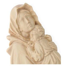 Rilievo Madonna del Ferruzzi legno Valgardena naturale cerato s4