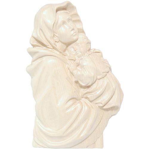 Rilievo Madonna del Ferruzzi legno Valgardena naturale cerato 1
