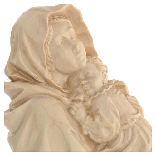 Rilievo Madonna del Ferruzzi legno Valgardena naturale cerato 2