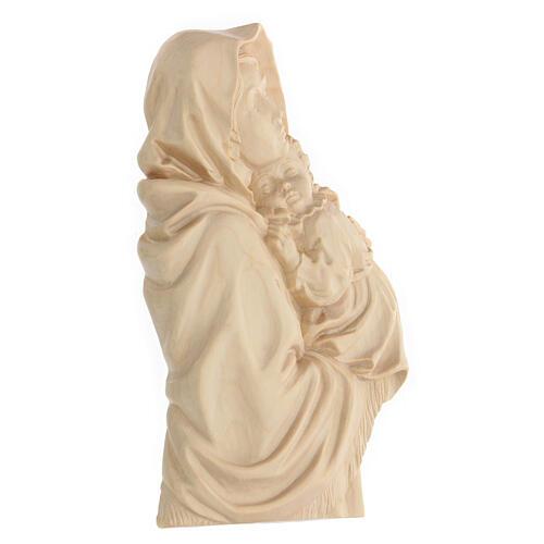 Rilievo Madonna del Ferruzzi legno Valgardena naturale cerato 3