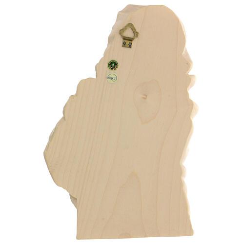 Rilievo Madonna del Ferruzzi legno Valgardena naturale cerato 6