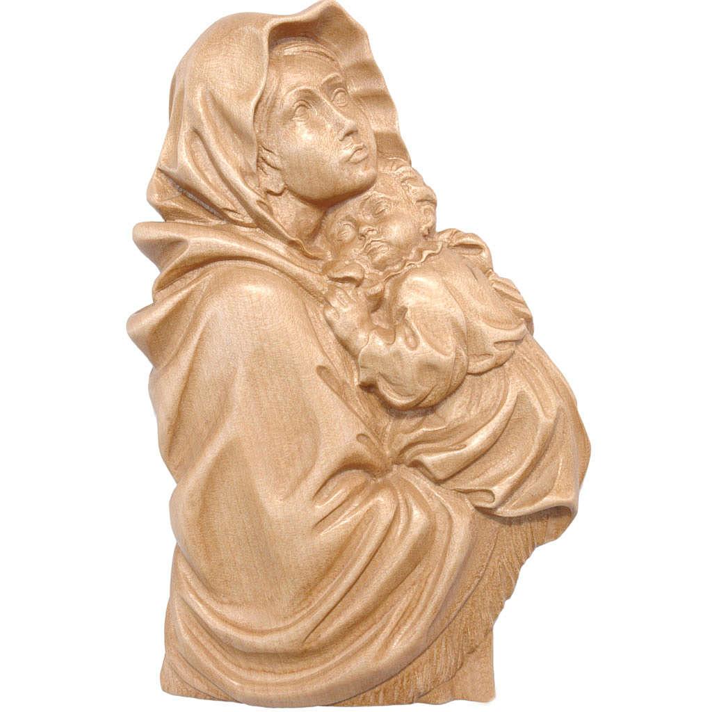 Rilievo Madonna del Ferruzzi legno Valgardena patinato 4
