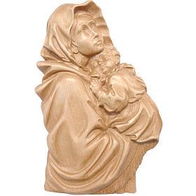 Rilievo Madonna del Ferruzzi legno Valgardena patinato s1