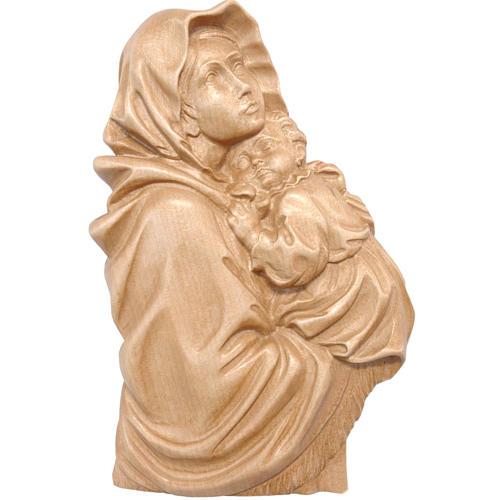 Rilievo Madonna del Ferruzzi legno Valgardena patinato 1