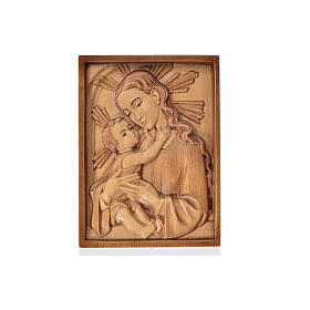 Tableau en relief Vierge et Enfant patiné multinuance Val Garden s1