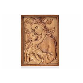 Rilievo Madonna con bambino legno Valgardena multipatinato s1