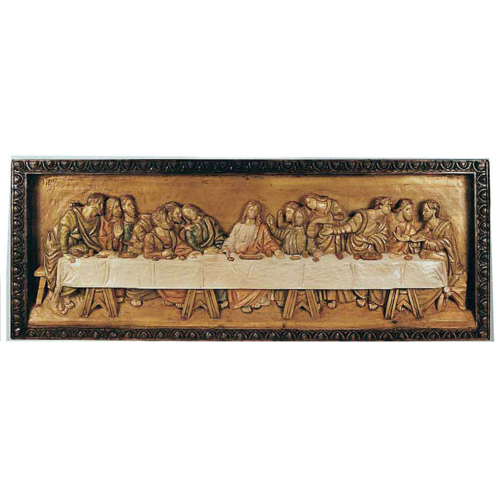 Last Supper, wooden relief 50x120cm 4
