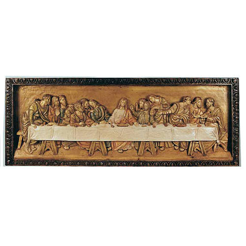 Last Supper, wooden relief 50x120cm 1