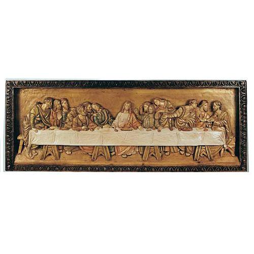 Last Supper, wooden relief 50x120cm 1