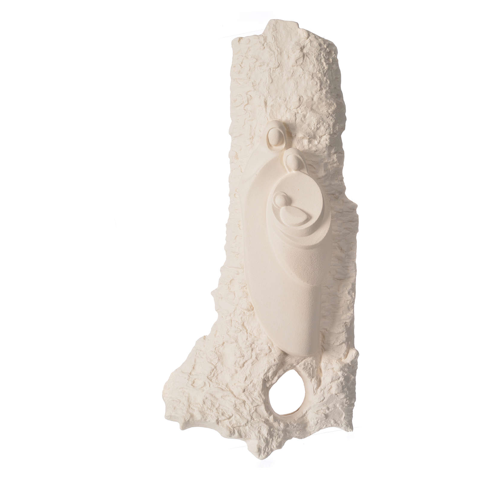 Bassorilievo Sacra Famiglia argilla mod. Oriente 4
