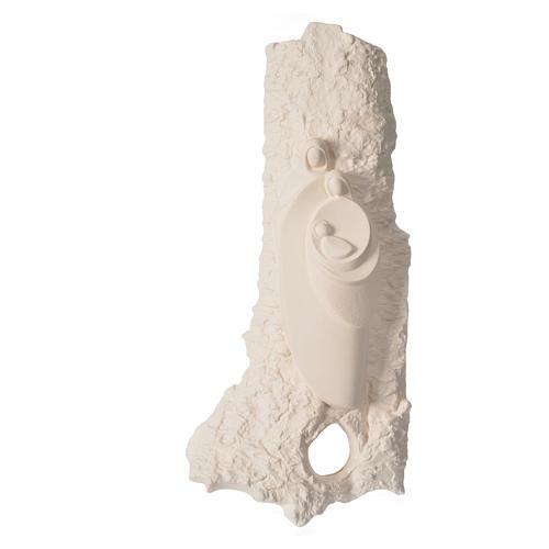 Bassorilievo Sacra Famiglia argilla mod. Oriente 1