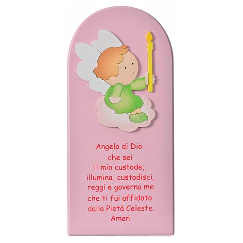 Quadro Santo Anjo madeira 1