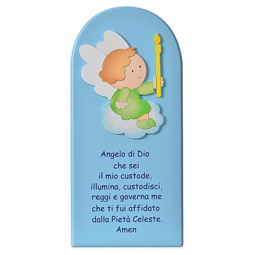 Quadro Santo Anjo madeira 2