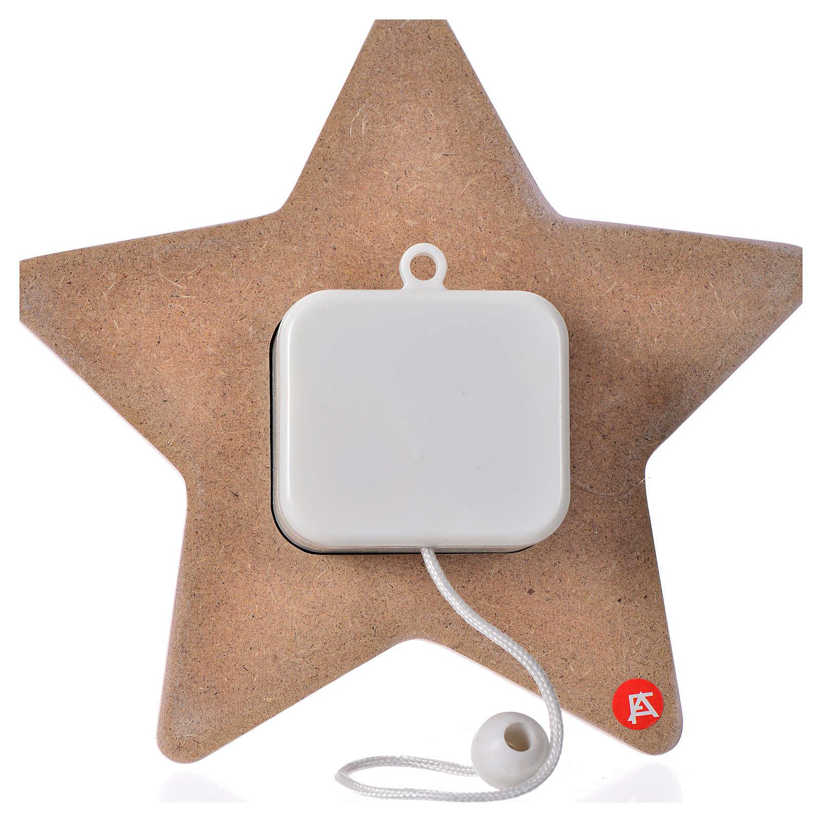 Estrella Ángel con mandolina y carillón 16x16 cm 4